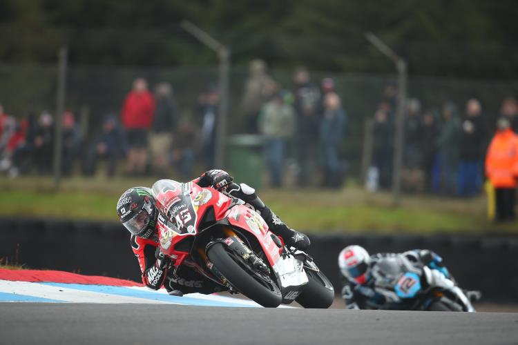 "Scott Redding: ""I knew I had the pace in the dry and went quicker in morning warm-up than I had done all weekend and for the first race, slick tyres were the only real option."""