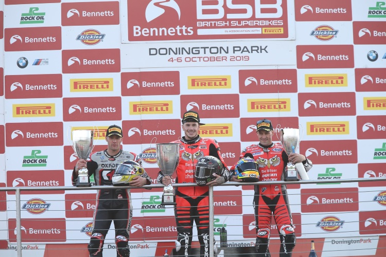 Double Win For Redding, Double Podium For Brookes At Donington