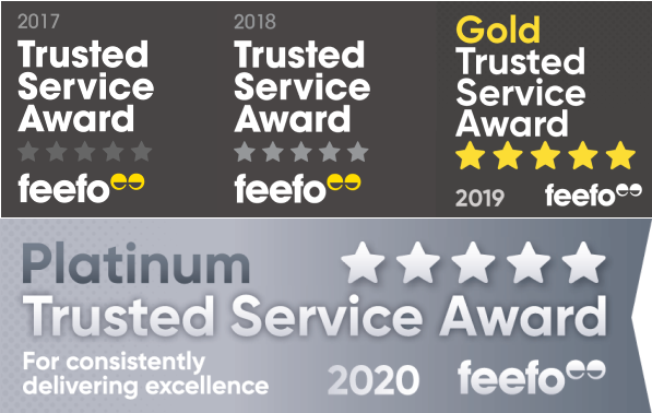 Be Wiser Feefo Trusted Service Awards