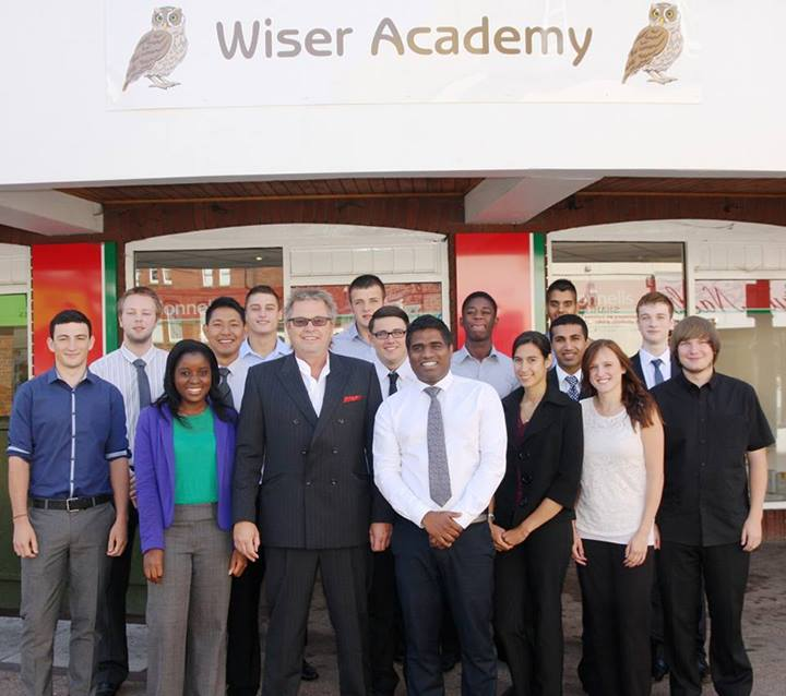 Wiser Academy pupils with Mark Bower-Dyke