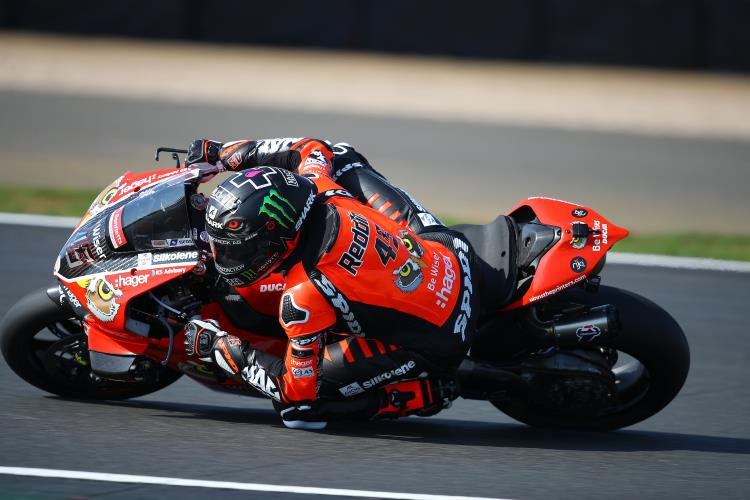 "Scott Redding: ""I was obviously happy to take the podium in the first race, but it wasn't a deserved one as the three riders in front of me had more pace."""