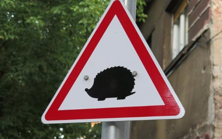 New road signs to warn of small animals on road