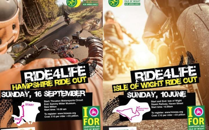 Be Wiser are proud to support Hampshire & Isle of Wight Air Ambulance in RideOut charity events.