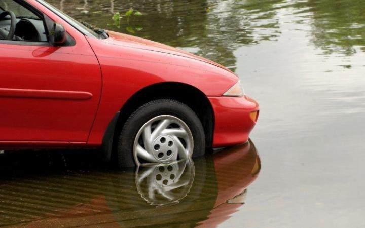 Would you risk it? Pensioners are most likely to take the plunge and attempt to drive through flood waters.