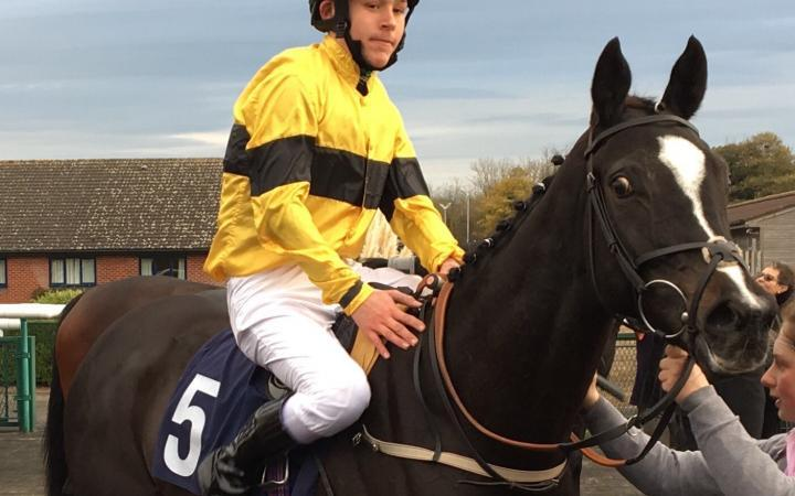 William Carver makes his first ever ride a winning one on Know The Truth at Southwell on Monday.