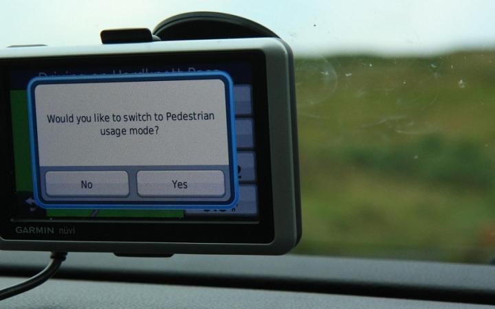 Where to legally mount a sat nav