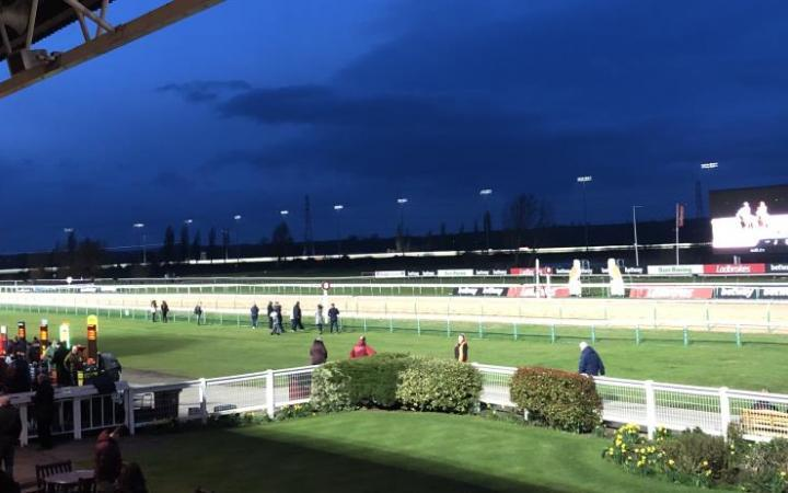 The floodlights are switched on for the first fixture of a new era at Southwell Racecourse.